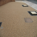 Resin Bonded Stone Paving in Aller Park 2